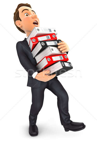 3d businessman overworked Stock photo © 3dmask