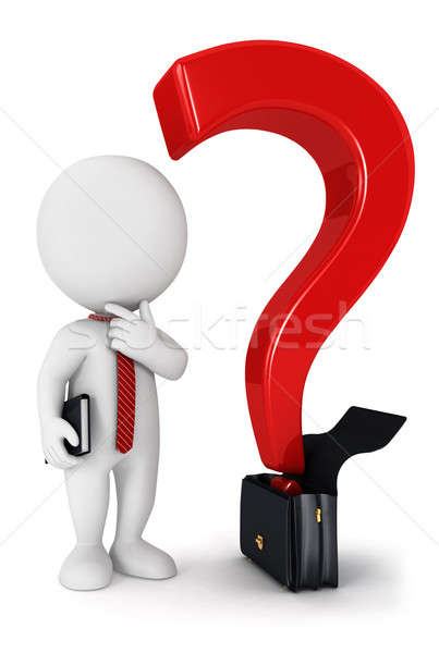 3D белые люди бизнеса вопросе изолированный белый Сток-фото © 3dmask