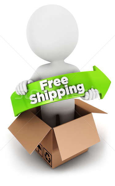 3d white people free shipping Stock photo © 3dmask