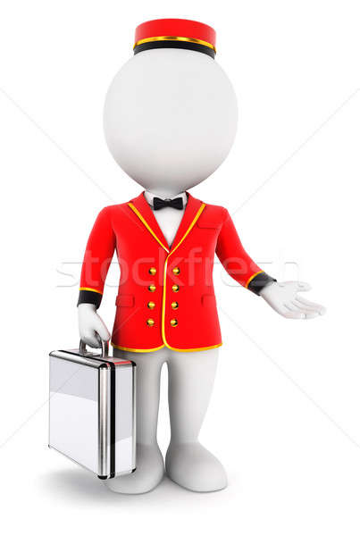 3d white people bellboy Stock photo © 3dmask