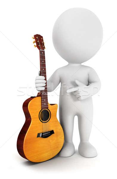 3D biali ludzie odizolowany biały obraz Zdjęcia stock © 3dmask
