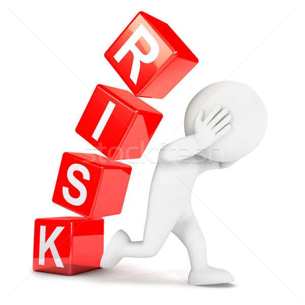 3D белые люди риск изолированный белый изображение Сток-фото © 3dmask
