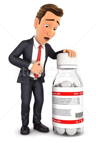 3d businessman stomach ache Stock photo © 3dmask