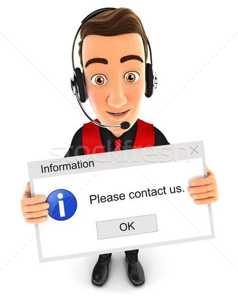 3D 販売者 コンピュータ メッセージ 実例 ストックフォト © 3dmask
