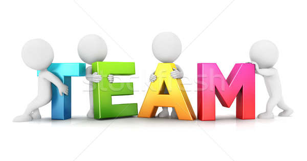 3d white people team Stock photo © 3dmask