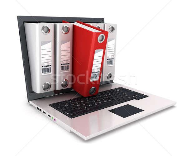 3d ring binder inside laptop Stock photo © 3dmask