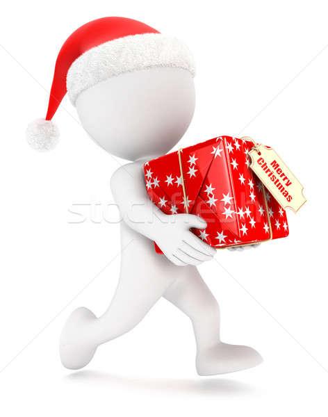 3D fehér emberek karácsony expressz szállítás izolált fehér Stock fotó © 3dmask