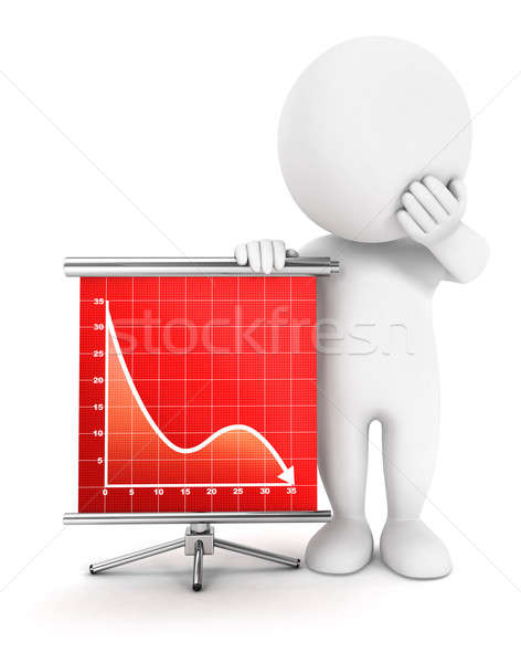 3D blancs échec diagramme isolé blanche Photo stock © 3dmask