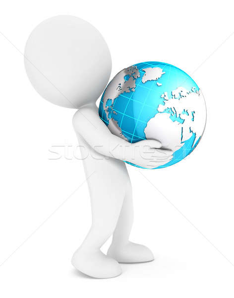 3d white people holding earth Stock photo © 3dmask