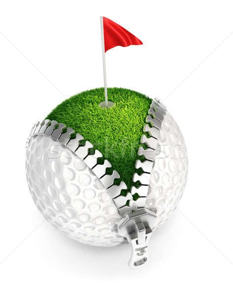 3D golfball isolado branco golfe esportes Foto stock © 3dmask