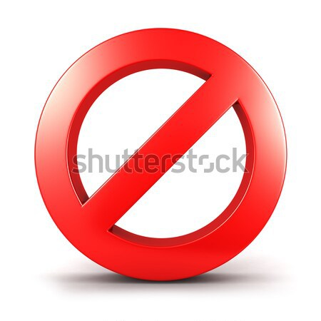 3D proibido assinar isolado branco imagem Foto stock © 3dmask