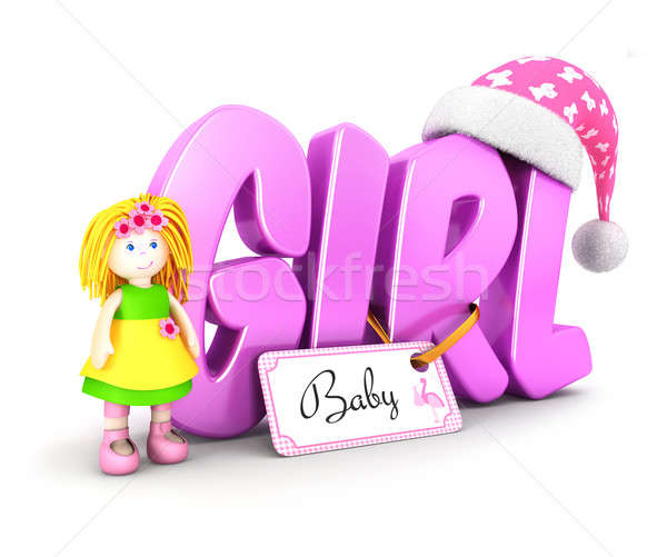 3d word girl concept Stock photo © 3dmask