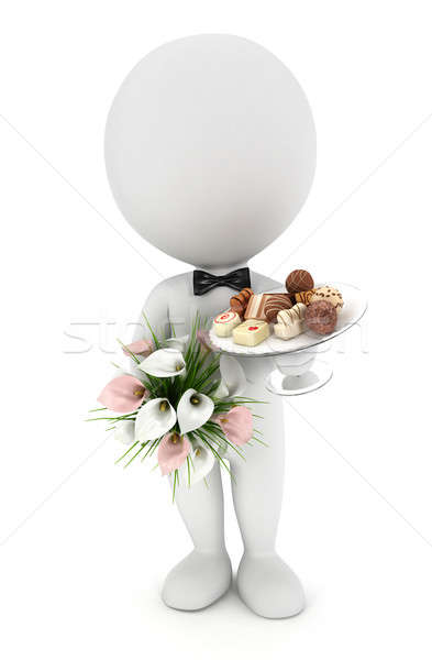 3d white people invited to the wedding Stock photo © 3dmask