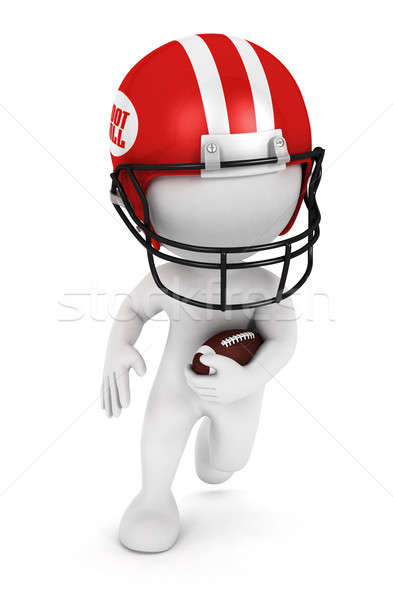 3D blancs jouer football balle Photo stock © 3dmask
