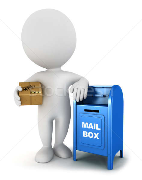 3d white people with a mail package  Stock photo © 3dmask