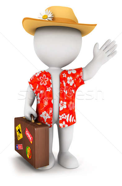 3d white people goes on vacation Stock photo © 3dmask
