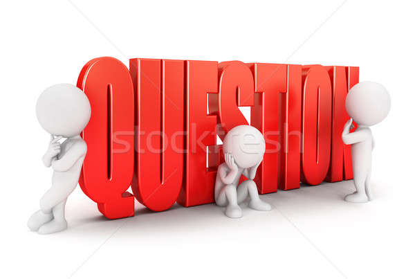 3d white people important question Stock photo © 3dmask