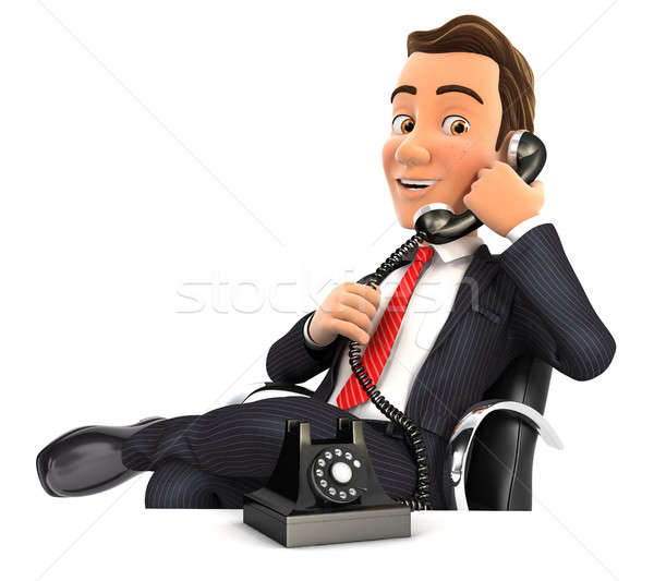 3d businessman making a phone call Stock photo © 3dmask