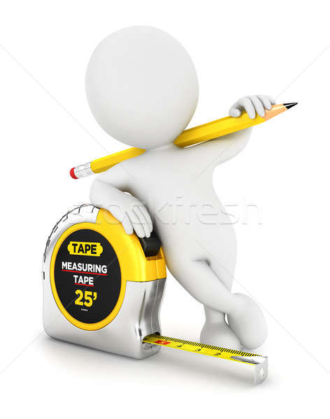 3d white people measuring tape Stock photo © 3dmask