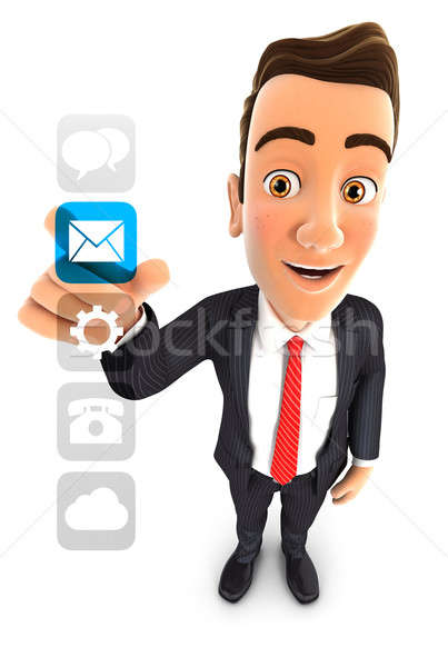 3d businessman applications interface Stock photo © 3dmask