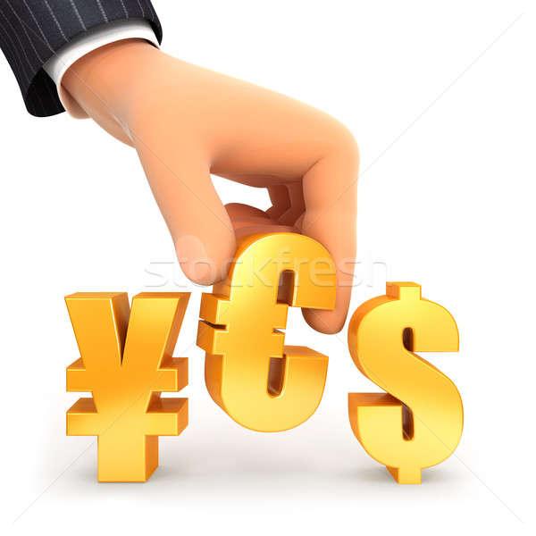 3D strony waluta podpisania tak ilustracja Zdjęcia stock © 3dmask