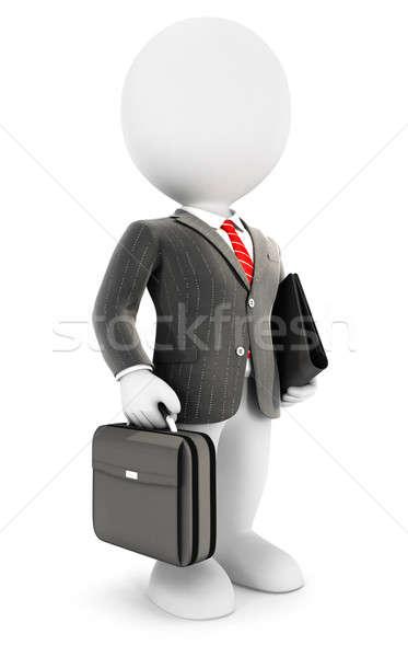 3D blancs élégante affaires image bureau Photo stock © 3dmask