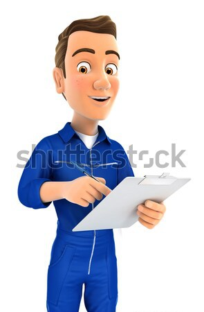 3d doctor pointing to right blank wall Stock photo © 3dmask