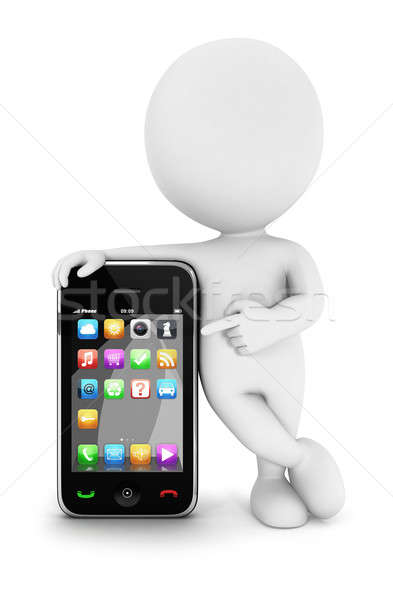 3d white people with a smartphone  Stock photo © 3dmask