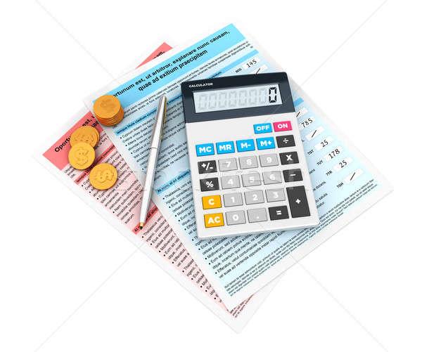 3d financial statement Stock photo © 3dmask