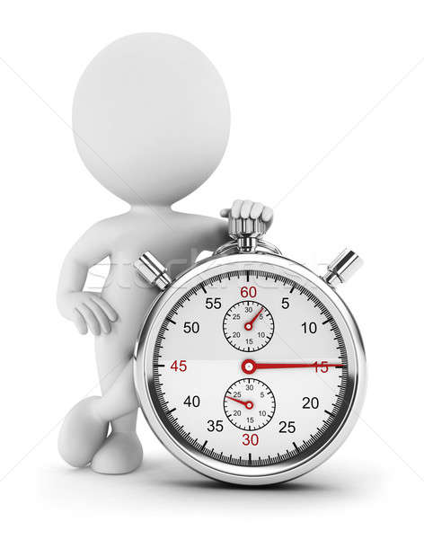 3d white people with a stopwatch Stock photo © 3dmask