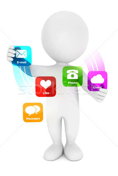 3d white people applications interface Stock photo © 3dmask