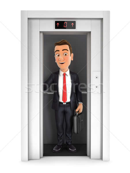 3d businessman taking the elevator Stock photo © 3dmask
