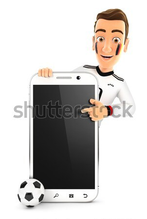 3d doctor pointing to blank smartphone Stock photo © 3dmask