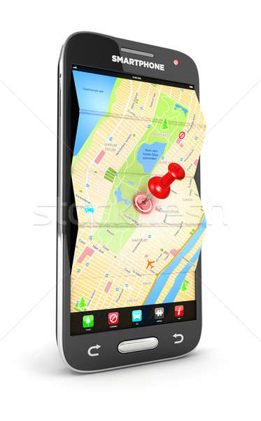 3d road map in smartphone Stock photo © 3dmask