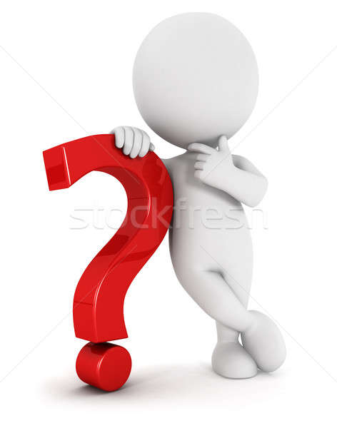 3d white people with a question mark Stock photo © 3dmask