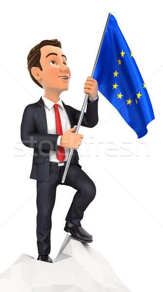 3D empresario europeo bandera superior Foto stock © 3dmask