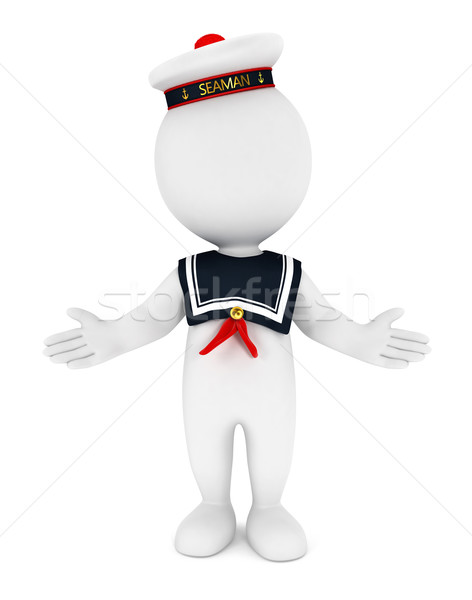 3d white people seaman Stock photo © 3dmask
