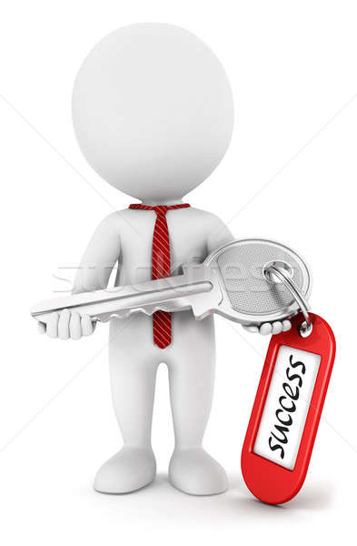 3d white people key to success Stock photo © 3dmask