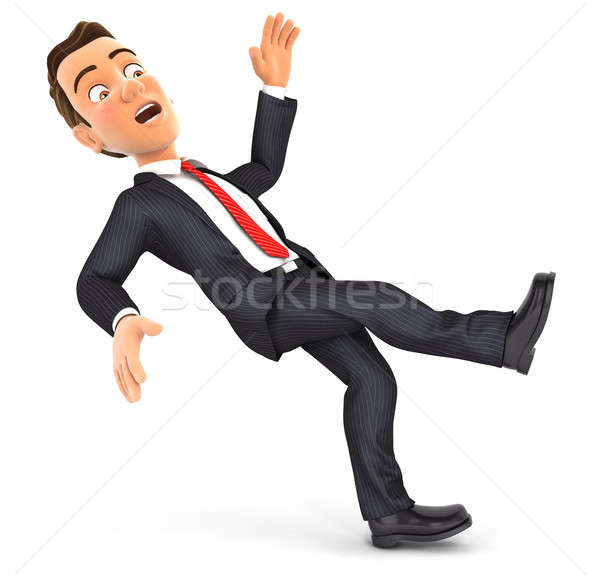 3d businessman slipping and falling Stock photo © 3dmask