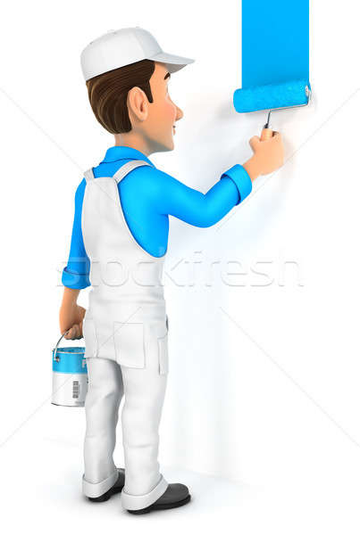 3d painter painting wall Stock photo © 3dmask