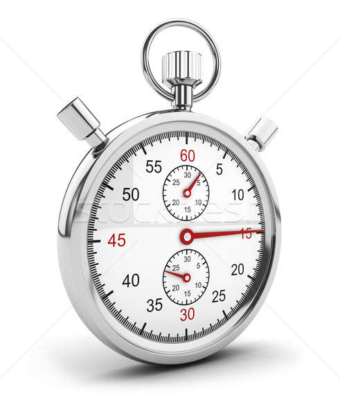 3d stopwatch icon Stock photo © 3dmask