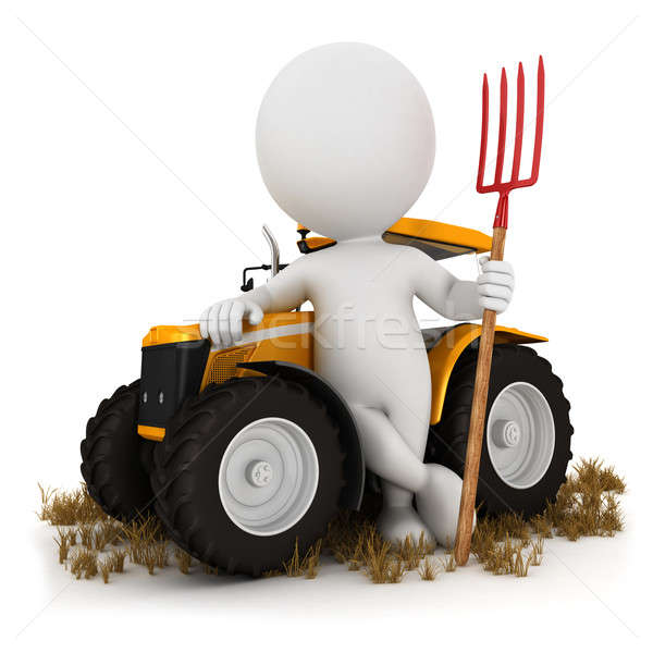 3d white people farmer Stock photo © 3dmask
