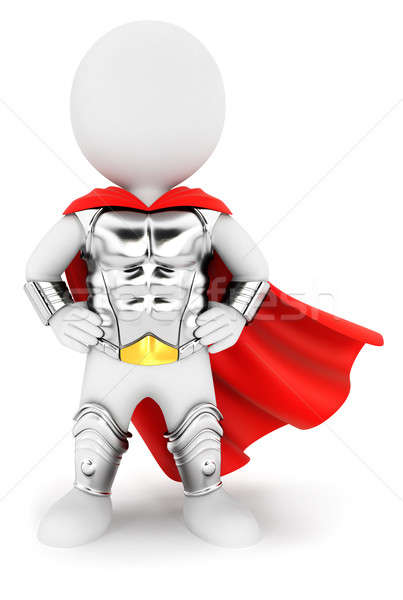 3d white people superhero with an armour Stock photo © 3dmask