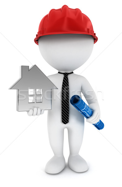 3d white people foreman Stock photo © 3dmask