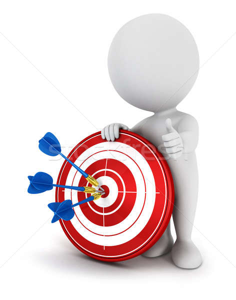 3d white people hit the target Stock photo © 3dmask