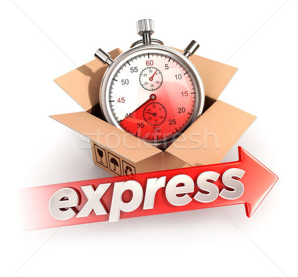 3d express delivery concept Stock photo © 3dmask