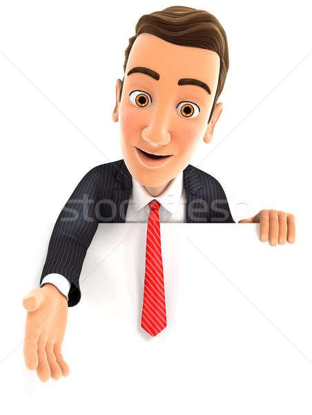 3D üzletember segítő kéz illusztráció izolált fehér Stock fotó © 3dmask