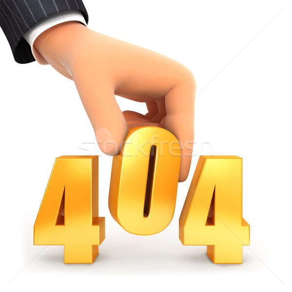 3d hand and error 404 concept Stock photo © 3dmask