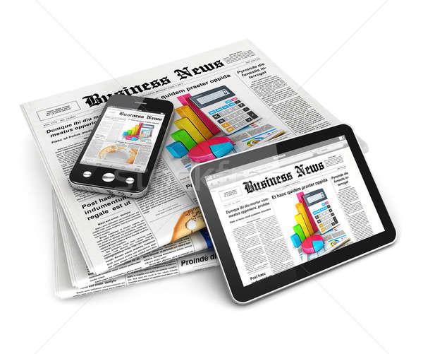 3D ビジネス ニュース 孤立した 白 画像 ストックフォト © 3dmask