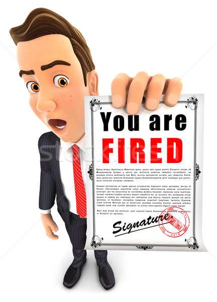 3d businessman holding a dismissal notice Stock photo © 3dmask